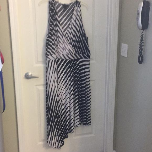 Lane Bryant Dresses & Skirts - Asymmetrical Dress (18/20) Black and White